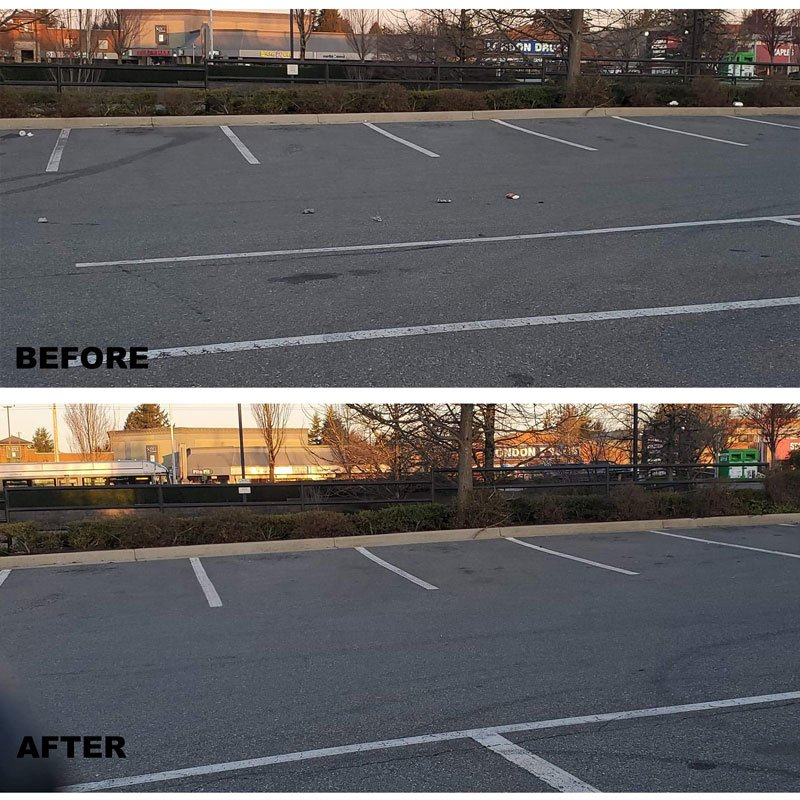 abbotsford parking lot before after