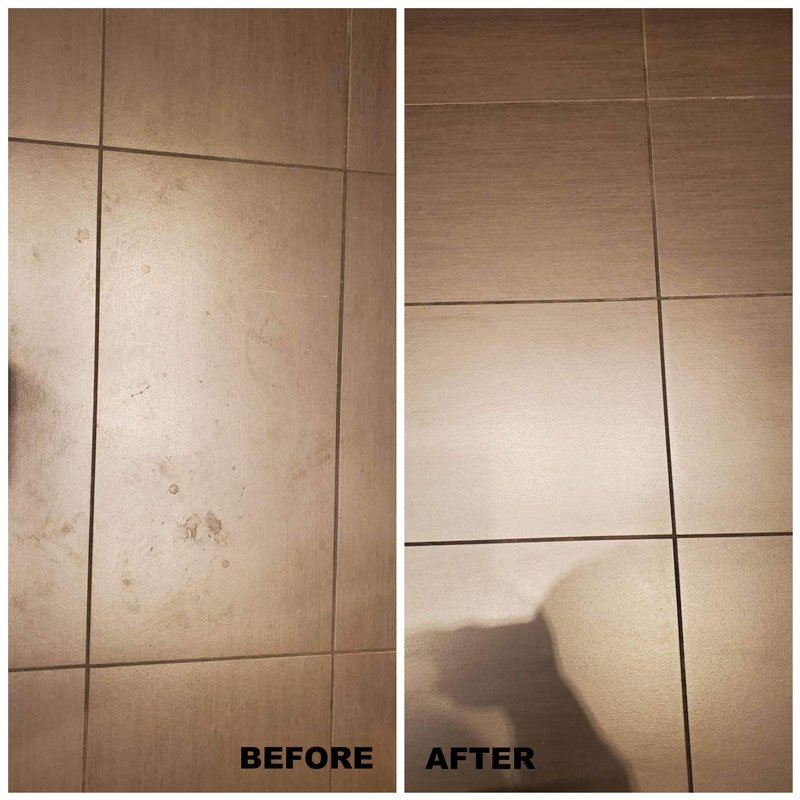 floor cleaning before after
