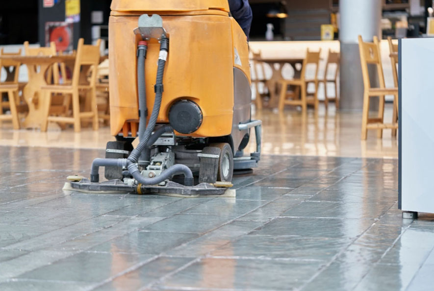 shopping mall cleaning
